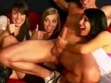 Hot sluts having fun with a male stripper