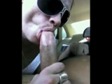 White Streetslut Sucks Off A Black Guy In His Car And Spits Out His Cum