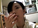 Submissive Japanese girl swallows cum