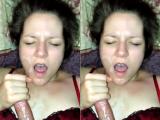 Blue-Eyed Wife BJ & Facial