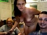 Two stickam sluts suck friends cock