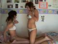 Two Young College Girls Ready To Have Fun