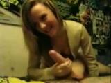 Very cute camera shy wife blowjob