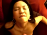Mia Asian GF sucking and taking a facial