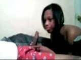 Black girl sucking dick on webcam