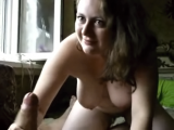 Busty Girl Homemade Blowjob
