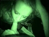 Outdoor Night Vision Camera Blowjob & Facial