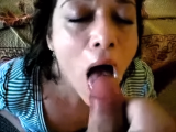 Girlfriend begging for cum