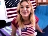 Patriotic girl makes sextape with BF