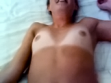 Enjoy the tan lines, lots of cum, and giggle at the end