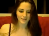 Spanish pretty brunette masturbates