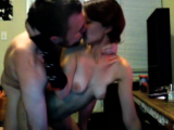 Real amateur couple webcam sex at home