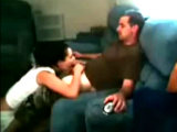 Hot Amateur Couple Fucking On Their Sofa