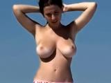 Busty Brunette Pink Bikini