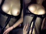 Hot girlfriend with perfect tits gives the perfect cock riding