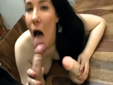 Teen plays with dildo and sucks cock