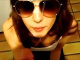 POV Blowjob in Sunglasses Ends in Facial