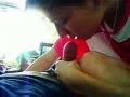 Russian girl morníng´s blowjob and white facial