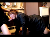 Sexy MILF Loves Giving Blowjob In Kitchen