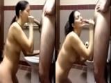Hotasswife Public Restroom Blow & Get Facial