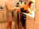 Submissive GF Bent Over And Fucked In The Kitchen
