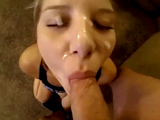Giving Her Best To Earn That Big Facial