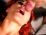 Redhead gets a facial