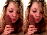 Curly Haired Amateur Loves Giving Blowjobs