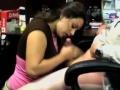 Girl On Her Knees Sucking Her Bosses Dick