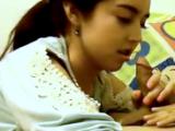 Shy Amateur Young Teen Schoolgirl Homemade Blowjob