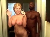 Perfect Blonde Girl In Homemade Action With Black Guy!