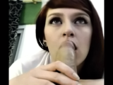 Sexy babe gets her mouth filled with dick