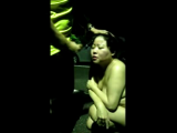 Asian slut sucks the night in a parking lot